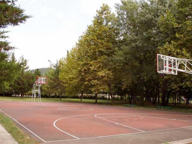 """Ольгинка, пансионат """"Горизонт"""", баскетбольная площадка"""