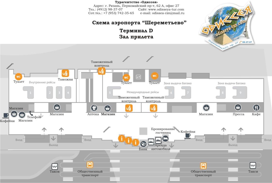 план схема терминалов аэропорта шереметьево